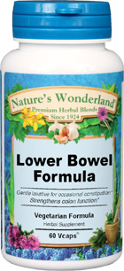 Lower Bowel Formula - 525 mg, 60 Vcaps™ (Nature' s Wonderland)