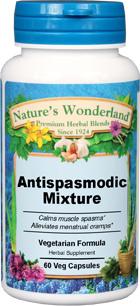 Antispasmodic Mixture - 575 mg, 60 Veg Capsules (Nature's Wonderland)