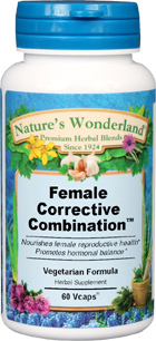 Female Corrective Combination™ - 500 mg, 60 Vcaps (Nature's Wonderland)