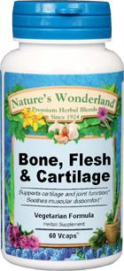 Bone Flesh and Cartilage, 475 mg - 60 Veg Capsules  (Nature's Wonderland)