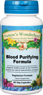 Blood Purifying Formula - 550 mg, 60 Veg Capsules (Nature's Wonderland)