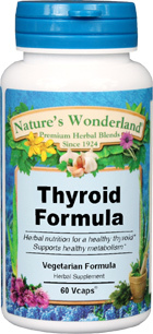 Thyroid Formula - 625 mg, 60 Vcaps  (Nature's Wonderland)