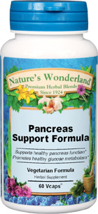 Pancreas Support Formula - 575 mg, 60 Vcaps (Nature's Wonderland)