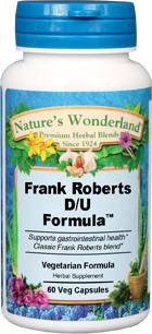 Frank Roberts D/U Formula - 550 mg, 60 Veg Capsuels (Nature' Wonderland)