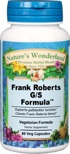 Frank Roberts G/S Formula - 525 mg, 60 Veg Capsules (Nature' Wonderland)