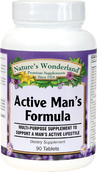 Active Man Multivitamin, 90 Tablets (Nature's Wonderland)
