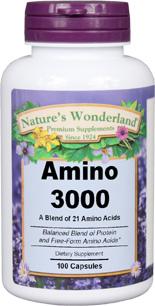 Amino 3000 / Amino Acid Capsules, 100 capsules  (Nature's Wonderland)