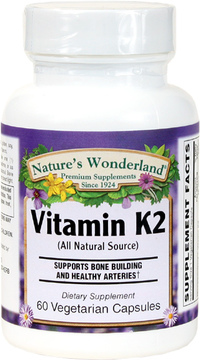 Vitamin K2 - 45 mcg, 60 Vegetarian Capsules (Nature's Wonderland)
