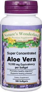 Aloe Vera - 10,000 mg equivalency, 100 softgels (Nature's Wonderland)