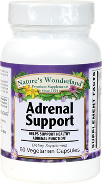 Adrenal Support,  60 Vegetarian Capsules (Nature's Wonderland)