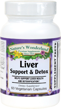 Liver Support & Detox, 60 Vegetarian Capsules (Nature's Wonderland)