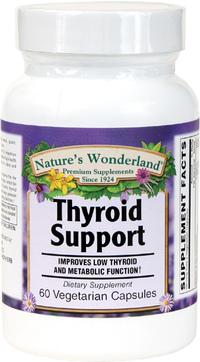 Thyroid Support, 60 Vegetarian Capsules (Nature's Wonderland)