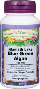 Blue Green Algae - 425 mg, 60 Veg Capsules (Nature's Wonderland)