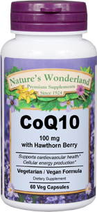 CoQ10 with Hawthorn Berry - 100 mg, 60 Vcaps™ (Nature's Wonderland)