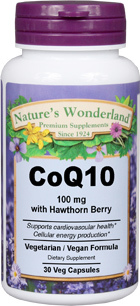 CoQ10 with Hawthorn Berry - 100 mg, 30 Vcaps™ (Nature's Wonderland)