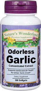 Garlic Extract, Odorless - 25 mg, 100 softgels (Nature's Wonderland)
