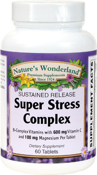 Super Stress B Complex, 60 Tablets (Nature's Wonderland)