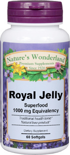 Royal Jelly - 1,000 mg, 60 softgels (Nature's Wonderland)