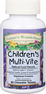 Children's Multi-Vite, 60 chewable tablets (Nature's Wonderland)