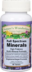 Full Spectrum Minerals, 60 vegetarian tablets (Nature's Wonderland)