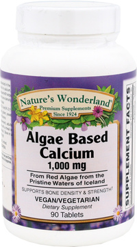 Calcium, Algae Based - 1,000 mg, 90 tablets (Nature's Wonderland