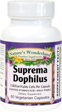 Suprema Dophilus - 5 Billion CFU, 60 Vegetarian Capsules (Nature's Wonderland)