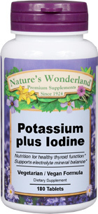 Potassium Plus Iodine, 180 tablets (Nature's Wonderland)