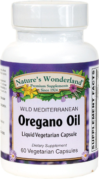 Oregano Standardized Oil - 45 mg , 60 Vegetarian Capsules (Nature's Wonderland)