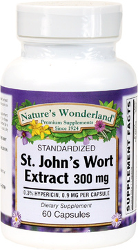 St. John's Wort Standardized Extract - 300 mg, 60 Capsules (Nature's Wonderland)