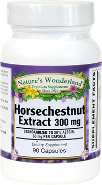 Horse Chestnut Standardized Extract - 300 mg, 90 Capsules (Nature's Wonderland)