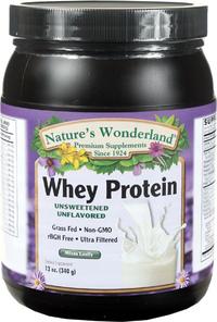 Whey Protein Powder - Unflavored, 12 oz /340 g (Nature's Wonderland)