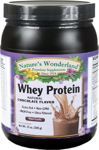 Whey Protein Powder - Chocolate 12 oz / 340 g (Nature's Wonderland)