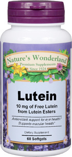 Lutein - 10 mg, 60 softgels (Nature's Wonderland)
