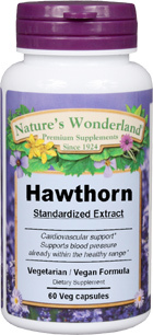 Hawthorn Berry Standardized Extract - 300 mg, 60 Vcaps™ (Nature's Wonderland)
