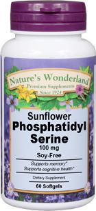 Phosphatidylserine (PS) - 100 mg, 60 softgels (Nature's Wonderland)