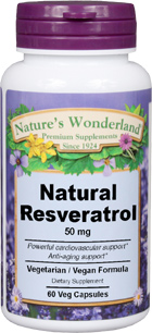 Resveratrol - 50 mg, 60 Vcaps™ (Nature's Wonderland)