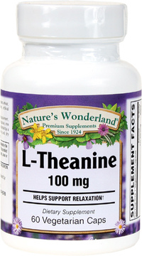 L-Theanine 100 mg, 60 Vegetarian Capsules (Nature's Wonderland)