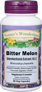 Bitter Melon Standardized Extract - 550 mg, 60 Veg Capsules (Nature's Wonderland)