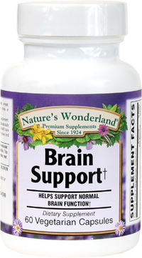 Brain Support, 60 Vegetarian Capsules (Nature's Wonderland)