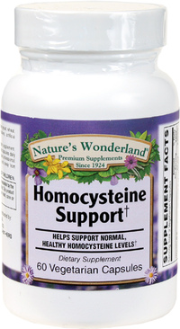 Homocysteine Support, 60 Vegetarian Capsules (Nature's Wonderland)