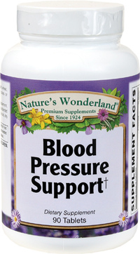 Blood Pressure Support, 90 Tablets (Nature's Wonderland)