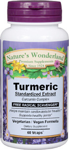 Turmeric Standardized Extract - 665 mg, 60 Veg Capsules (Nature's Wonderland)