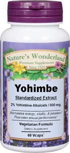 Yohimbe Standardized Extract - 800 mg, 60 Vcaps™ (Nature's Wonderland)