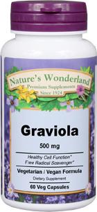 Graviola - 500 mg, 60 Veg Capsules (Nature's Wonderland)