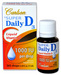 Vitamin D Liquid / Super Daily D3 Drops - 1000 IU, 0.38 fl oz/ 11 ml (Carlson Labs)