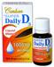 Vitamin D Liquid / Super Daily D3 Drops - 1000 IU, 0.38 fl oz/ 11 ml (Carlson Labs)