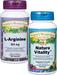 Nature Vitality Combo: Nature Vitality™ 60 Vcaps - 525 + L-Arginine, 500mg - 100 capsules